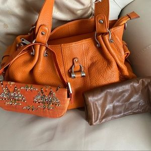 Leather Purse and Wallet Set